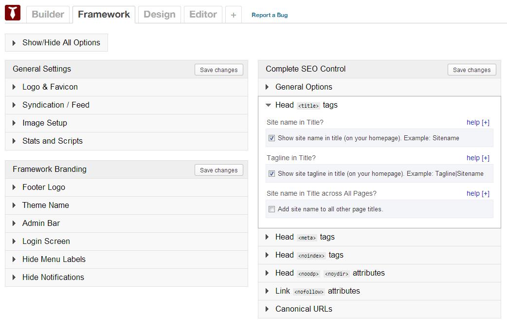 framework-options